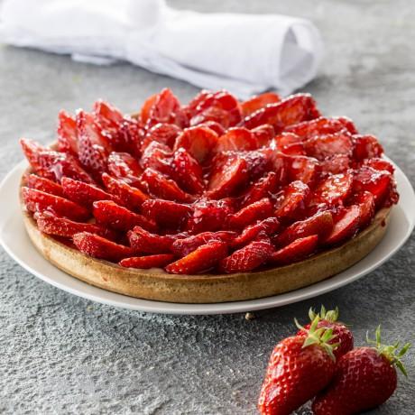 - Tarte fraises 8 personnes