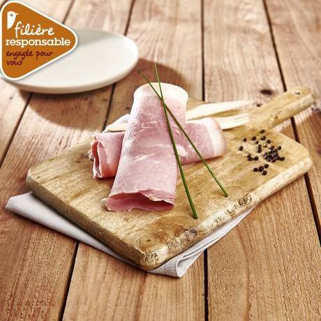 - Jambon à l'ancienne cuit au torchon Label Rouge Porc de nos villages