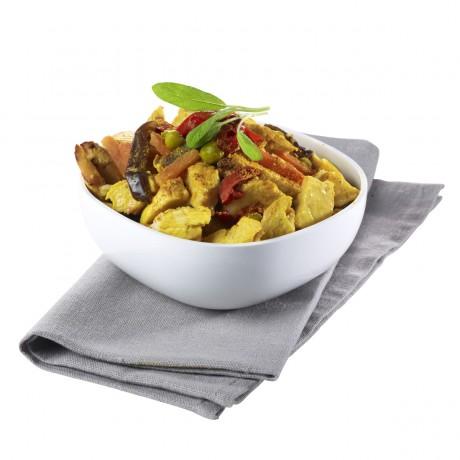 Poulet au curry et légumes, 1,25 kg 5 parts