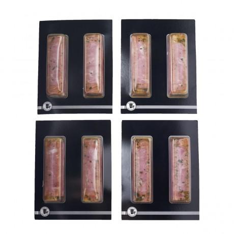 Aspic bûchette jambon et macédoine, 2 x 130 g. Vendu par 4.