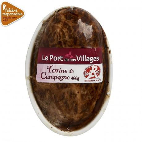 - Terrine de campagne Label Rouge Filière responsable Auchan