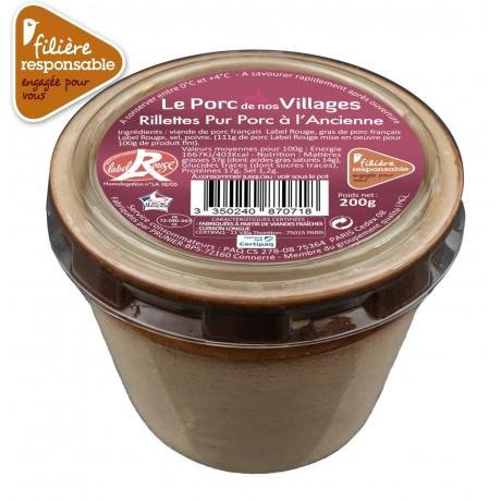 - Rillettes pur porc Label Rouge Filière responsable Auchan