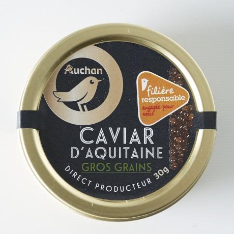 - Caviar d'Aquitaine Gros grains Filière responsable Auchan