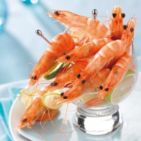 Crevettes entières cuites réfrigérées calibre 40/50