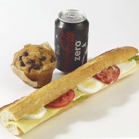 -Formule le Fromager sandwich baguette + boisson + dessert