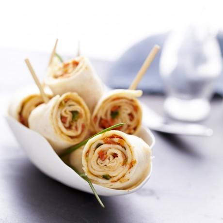 Mini-wraps chorizo légumes
