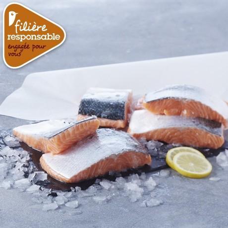 - 6 pavés de saumon Atlantique Filière responsable Auchan
