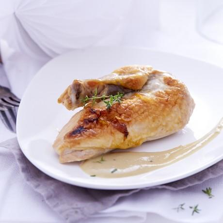 Suprêmes de pintade sauce foie gras