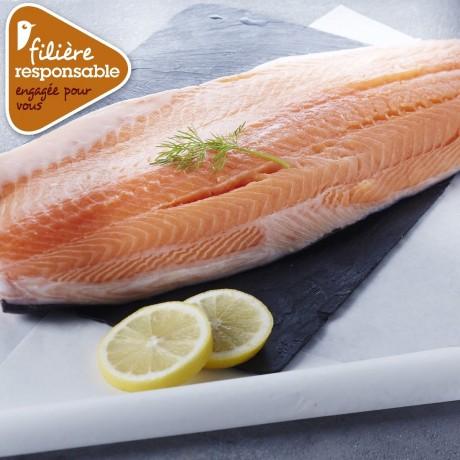 - Filet de saumon Atlantique Filière responsable Auchan