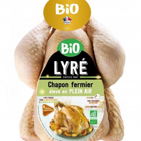 - Chapon fermier bio Lyré élevé plein air Filière responsable Auchan