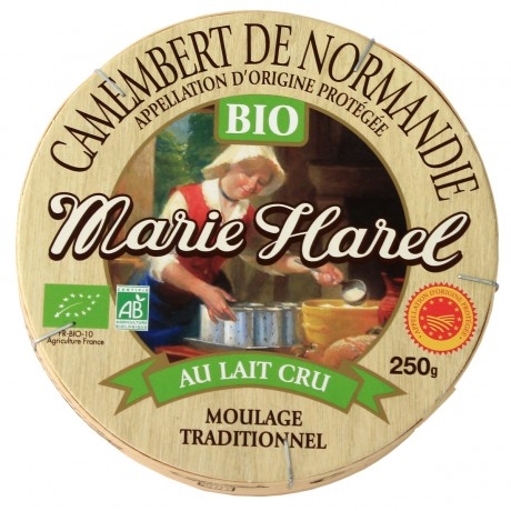 - Camembert de Normandie Bio au lait cru AOP Marie Harel