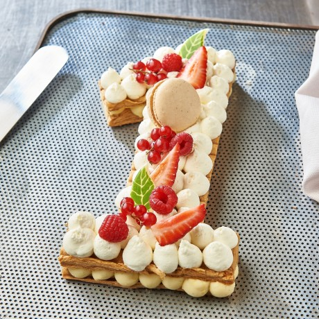 - Chiffre 1 Number cake millefeuille