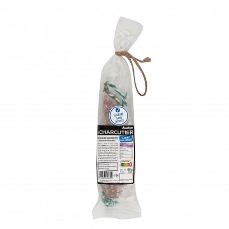- Saucisson sec sans nitrite aux noisettes Auchan Le Charcutier