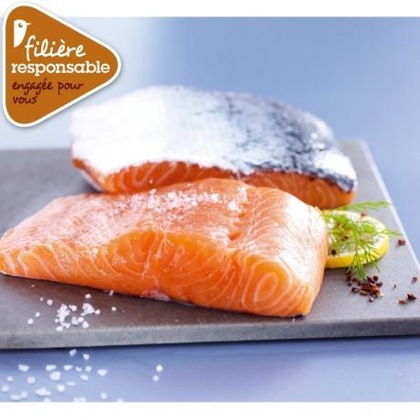 - Pavés de saumon Atlantique Filière responsable Auchan