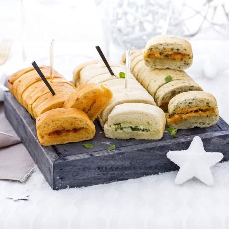 Mini pains Préfou assortis