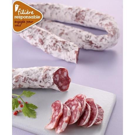 - Saucisse sèche supérieure Label Rouge Filière responsable Auchan