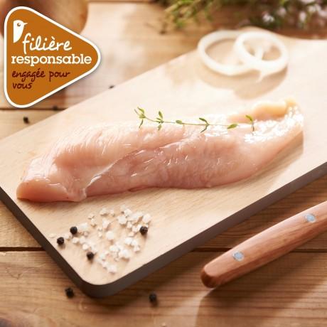 - Escalope extra-fine de poulet Lyré Bio Filière responsable Auchan