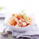 Salade Cocktail de crevettes surimi et ananas