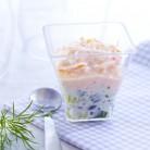 Verrine tartare de concombre et surimi