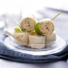 Mini-wraps saumon et tartare de concombre