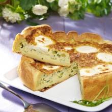 Quiche courgettes et fromage de chèvre
