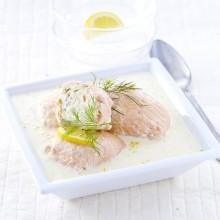 Paupiettes au saumon sauce beurre citron