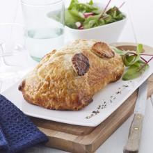 Volaille en croûte aux marrons et foie gras