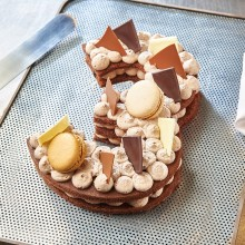 - Chiffre 3 Number cake chocolat