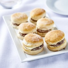 Mini burgers montagnards au boeuf charolais
