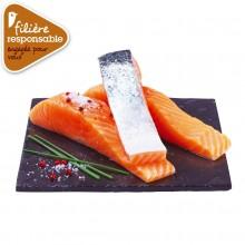 - pavé de saumon Atlantique Filière responsable Auchan