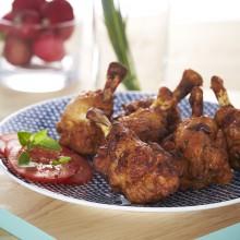 Ailes de poulet rôti goût barbecue