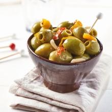 - Olives vertes géantes dénoyautées à la paysanne