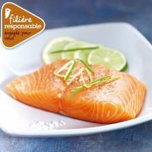 - Pavé de saumon sous vide Filière responsable Auchan