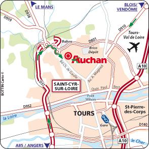 Plan d'accès TOURS SAINT-CYR / LOIRE
